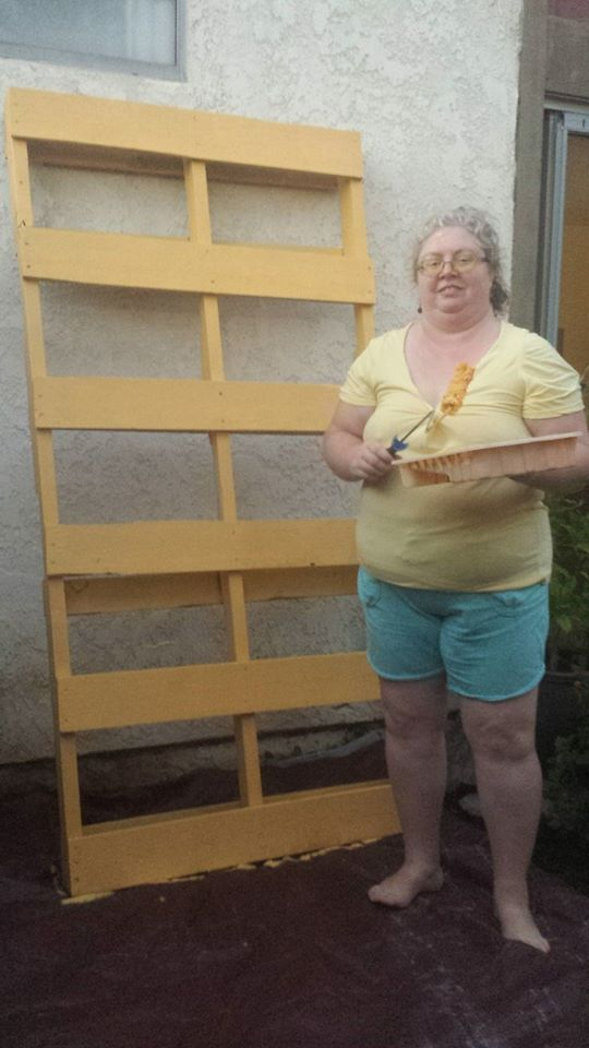 Painting the pallet